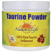 Taurine Powder Unflavored 335 g, Nature's Life