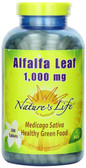 Alfalfa Leaf 1 000 mg 500 Tabs, Nature's Life