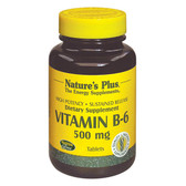 Vitamin B-6 500 mg 90 Tabs, Nature's Plus