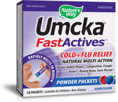 Umcka Fast Actives Cold + Flu Relief Berry Flavor Non-Drowsy 10 Powder Packets, Nature's Way