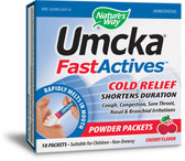 Umcka Fast Actives Cold Relief Cherry Flavor 10 Powder Packets, Nature's Way