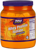 Sports Whey Protein Isolate Powder Natural Unflavored 1.2 lb (544 g), Now Foods