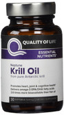 Neptune Krill Oil 30 sGels, Quality of Life Labs