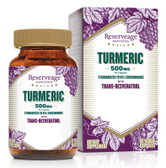 Turmeric with Trans-Resveratrol 500 mg 60 Veggie Caps, ReserveAge Nutrition