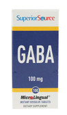 GABA 100 mg 100 MicroLingual Instant Dissolve Tabs, Superior Source