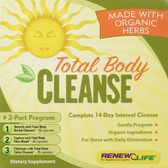 Organic Total Body Cleanse 3-Part Kit Renew Life, Detox