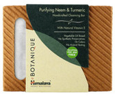 Botanique Handcrafted Cleansing Bar Purifying Neem & Turmeric 4.41 oz (125 g), Himalaya Herbal Healthcare