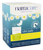 Ultra Pads Organic Cotton Cover Regular Normal 14 Pads, Natracare