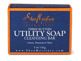 Three Butters Utility Soap Cleansing Bar 5 oz (141 g), Shea Moisture