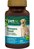 Pet Natural Care Brewers Yeast All Dogs Savory Flavor 250 Chewables, 21st Century Health Care