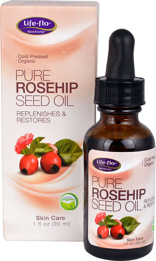 Rosehip Oil: Life-Flo Pure Rosehip Seed Oil 1 Oz, Dry Skin, Replenishes