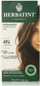 Permanent Chestnut 4N, Herbatint Natural Hair Color