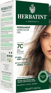 Herbatint Permanent Ash Blonde 7C Natural Hair Color