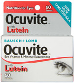 With Lutein Eye Vitamin & Mineral Supplement 60 Tabs, Bausch & Lomb Ocuvite