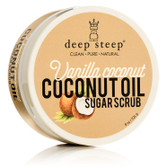Coconut Oil Sugar Scrub Vanilla Coconut 8 oz (226 g), Deep Steep