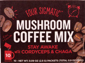 Mushroom Coffee with Cordyceps 10 Powder Bags,
