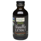 Organic Vanilla Extract 2 oz (59 ml), Frontier Natural Products