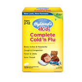 4Kids Complete Cold 'n Flu Ages 2-12 125 Quick-Dissolving Tabs, Hyland's