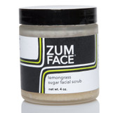 Zum Face Lemongrass Sugar Facial Scrub 4 oz, Indigo Wild