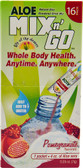 Aloe Mix n' Go Powdered Drink Mix Pomegranate 16 Packs, Lily of the Desert