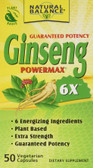 Ginseng Powermax 6X 50 VCaps Natural Balance, Immune Support