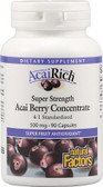 AcaiRich Acai Berry Concentrate 500 mg 90 Capsules, Natural Factors