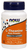 L-Theanine Pure Powder 1 oz (28 g), Now Foods