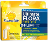 Extra Care Ultimate Flora Probiotic 50 Billion 7 VCaps, Renew Life