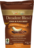 Decadent Blend Chia & Flax Seed With Coconut & Cocoa 12 oz, Spectrum Essentials