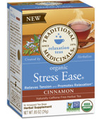 Stress Ease Relaxation Organic Cinnamon C-F 16 Tea Bags, Traditional Medicinals