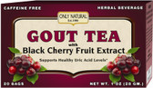 Gout Tea with Black Cherry Fruit Extract 20 Tea Bags, Only Natural