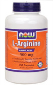 Now Foods Arginine 500 mg 250 Caps, Potency, Vitality