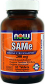 SAM-E 200mg 30 Tabs, Now Foods, Nervous System