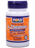 Theanine 200 mg 60 vCaps Now Foods, Cardiovascular, Stress