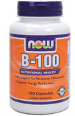 B-100 Caps 100 Caps, Now Foods Vitamins