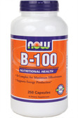 Vitamin B-100 Caps 250 Caps, Now Foods Vitamins