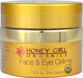 Face & Eye Creme 1.75 oz, Honey Girl Organics