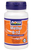 Methyl B-12 5000 mcg w/Folic Acid 120 Lozenges, Now Foods, Brain Health