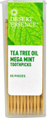 Tea Tree Oil Mega Mint Toothpicks 55 Toothpicks, Desert Essence