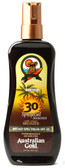Exotic Blend Spray Gel Sunscreen w/Instant Bronzer SPF 30 8 oz, Australian Gold