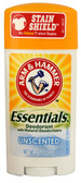Essentials Deodorant Unscented 2.5 oz, Arm & Hammer