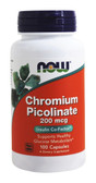 Chromium Picolinate 200 mcg 100 Caps Now Foods