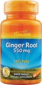 Ginger Root 550 mg 60 Caps, Thompson