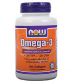 Omega-3 1000 mg 100 Softgels Now Foods, Cardiovascular