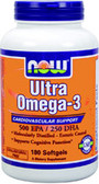 Ultra Omega 3 Fish Oil 180 Softgels, Now Foods