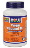 Now Foods Virgin Coconut Oil 1000 mg 120 Softgels, MCT's