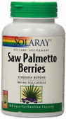 Saw Palmetto Berries 580 mg 180 Caps, Solaray