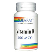 Vitamin K 100 Tabs, Solaray