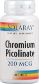 Chromium Picolinate 200 mcg 200 Tabs, Solaray