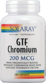 GTF Chromium 200 mcg 200 Caps, Solaray